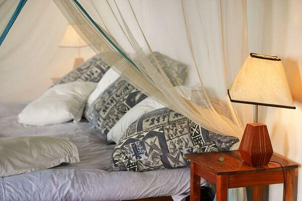 comfy master bedroom with largest bed in Zanzibar villa